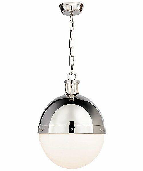 "Visual Comfort Hicks Pendant Light - Color: Silver - Size: 18"" - TOB 5063PN-WG"