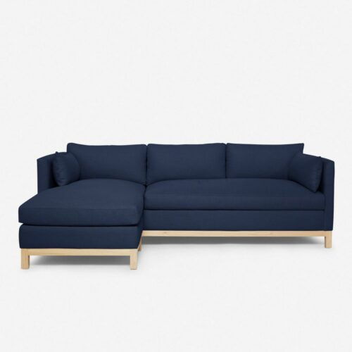 Hollingworth Left-Facing Sectional Sofa, Dark Blue By Ginny Macdonald