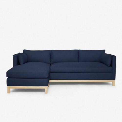 Hollingworth Left-Facing Sectional Sofa, Dark Blue By Ginny Macdonald