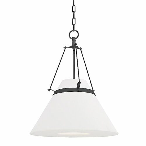 Hudson Valley Lighting Clemens Pendant Light - Color: White - Size: 1 light - 6421-OB