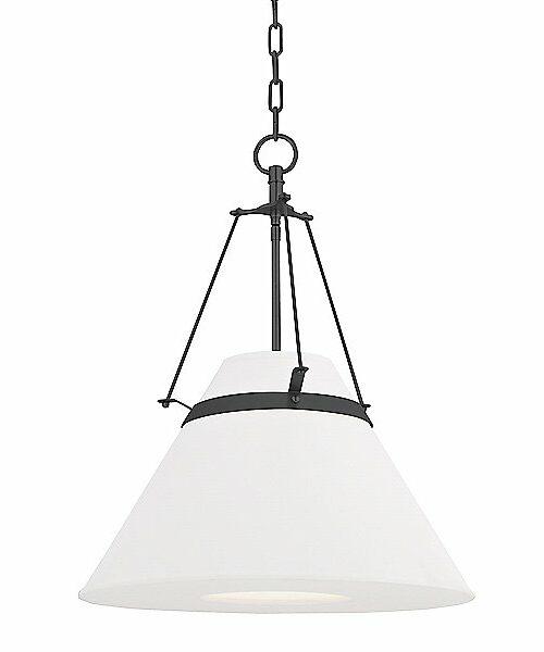 Hudson Valley Lighting Clemens Pendant Light - Color: White - Size: 1 light - 6421-OB