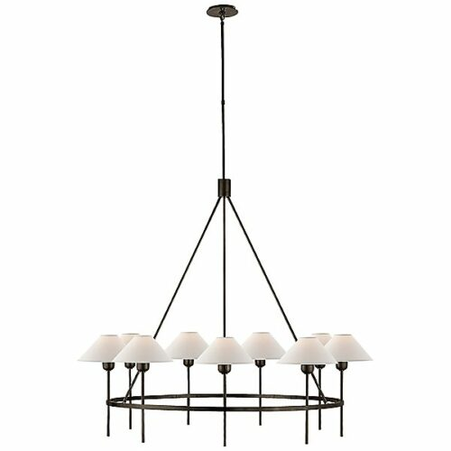 Visual Comfort Hackney 9-Light Chandelier - Color: Black - SP 5014BZ-NP