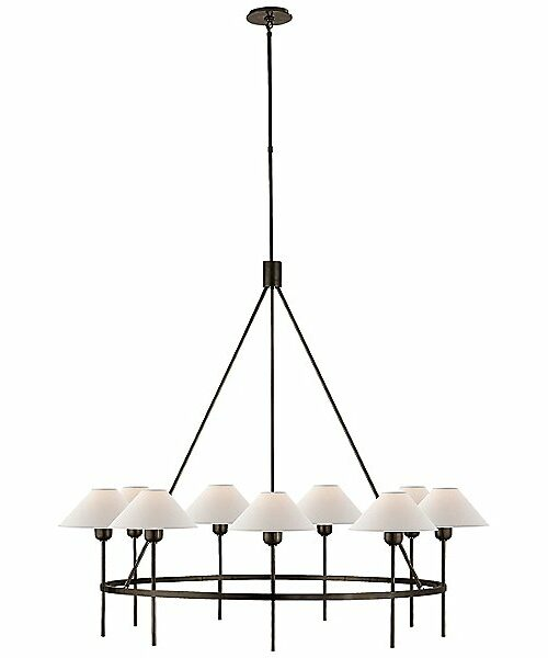 Visual Comfort Hackney 9-Light Chandelier - Color: Black - SP 5014BZ-NP