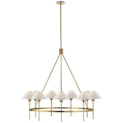 Visual Comfort Hackney 9-Light Chandelier - Color: Gold - SP 5014HAB-NP