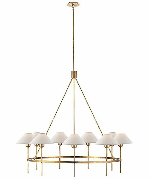 Visual Comfort Hackney 9-Light Chandelier - Color: Gold - SP 5014HAB-NP