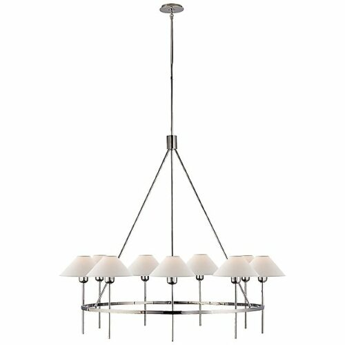 Visual Comfort Hackney 9-Light Chandelier - Color: Silver - SP 5014PN-NP