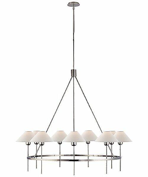 Visual Comfort Hackney 9-Light Chandelier - Color: Silver - SP 5014PN-NP