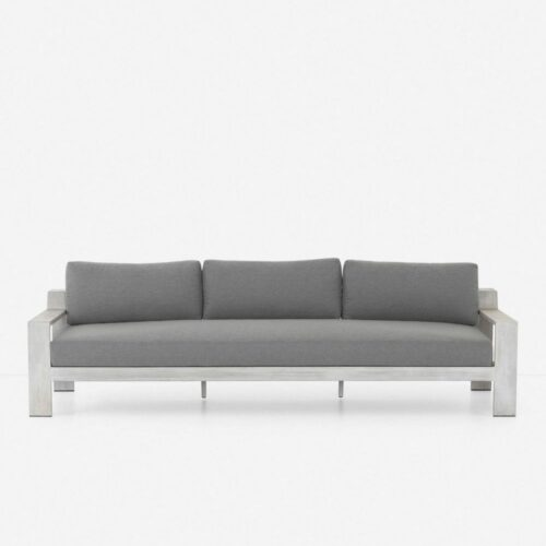 Clarise Indoor / Outdoor Sofa, Gray