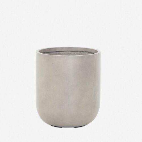 Dena Indoor / Outdoor Round Planter, Grey