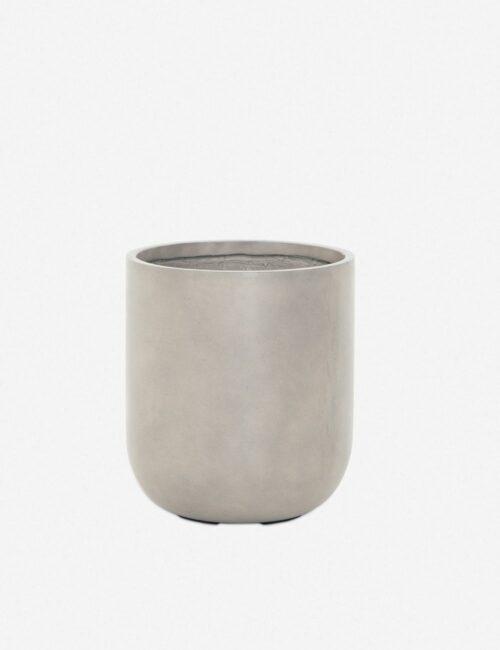Dena Indoor / Outdoor Round Planter, Grey
