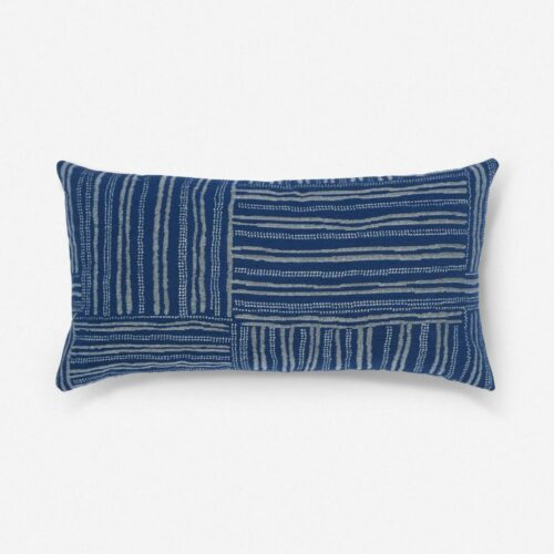 Gabriella Indoor / Outdoor Lumbar Pillow, Indigo