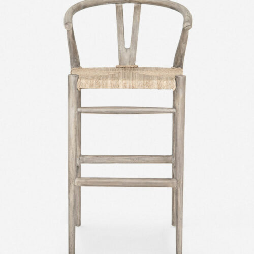 Gradie Indoor / Outdoor Bar Stool, Weathered Grey