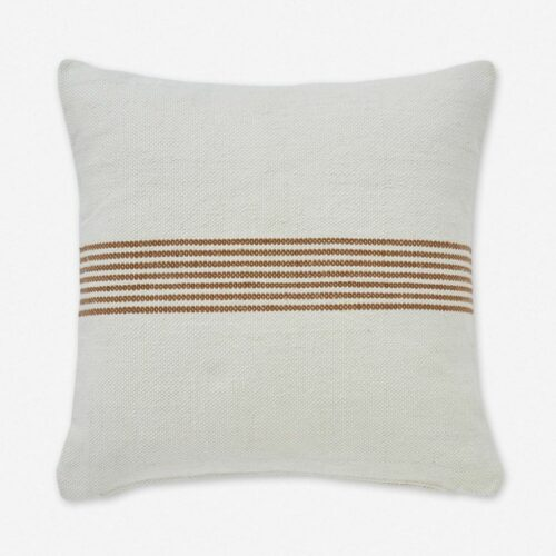Katya Indoor / Outdoor Pillow, Rust Stripe