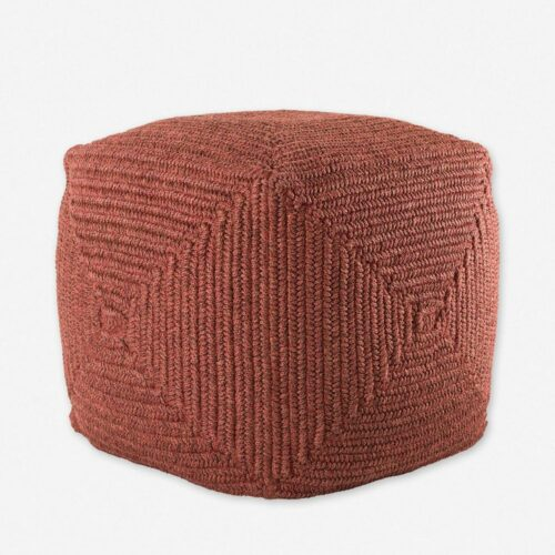 Kiley Indoor / Outdoor Pouf, Brick