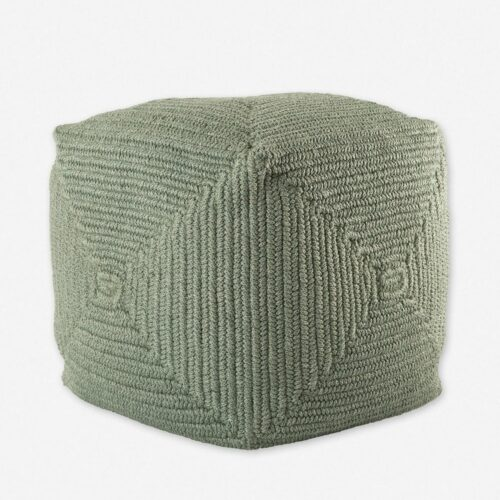 Kiley Indoor / Outdoor Pouf, Moss