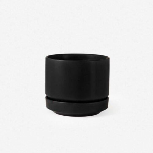 LBE Design Ceramic Indoor / Outdoor Planter, Black