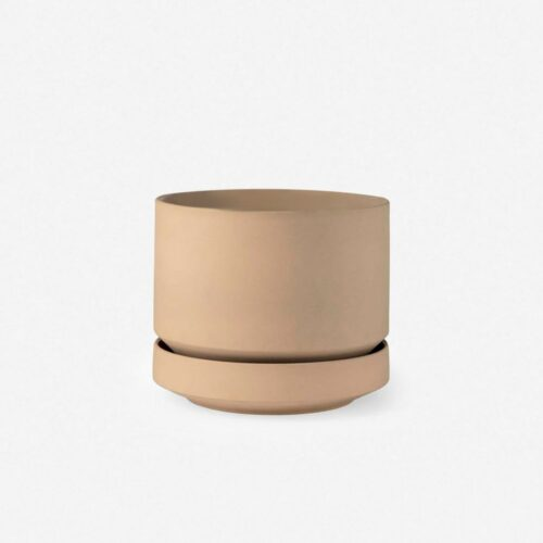 LBE Design Ceramic Indoor / Outdoor Planter, Oatmeal