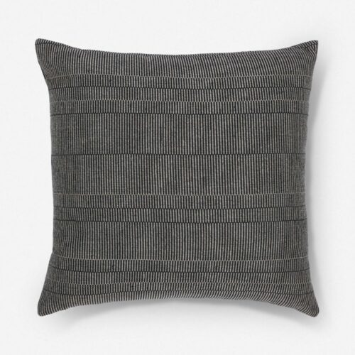Milan Indoor / Outdoor Pillow, Black