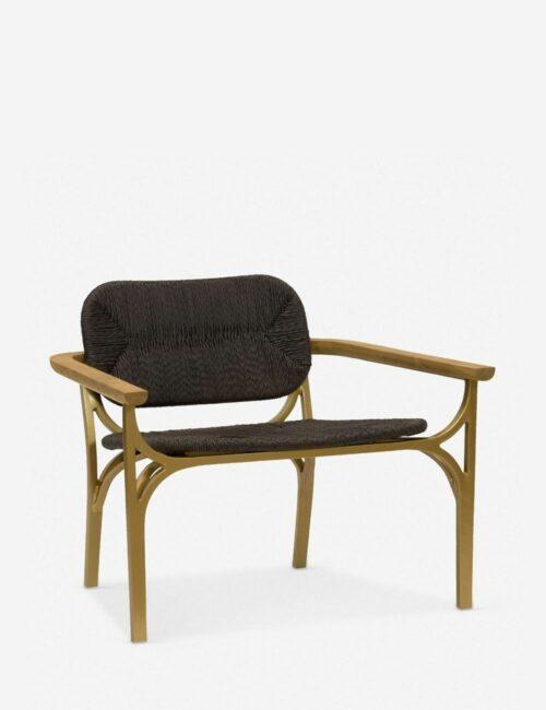 Morris & Co. Kelmscott Rush Indoor / Outdoor Accent Chair, Black