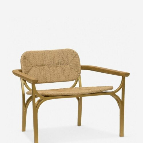Morris & Co. Kelmscott Rush Indoor / Outdoor Accent Chair, Natural