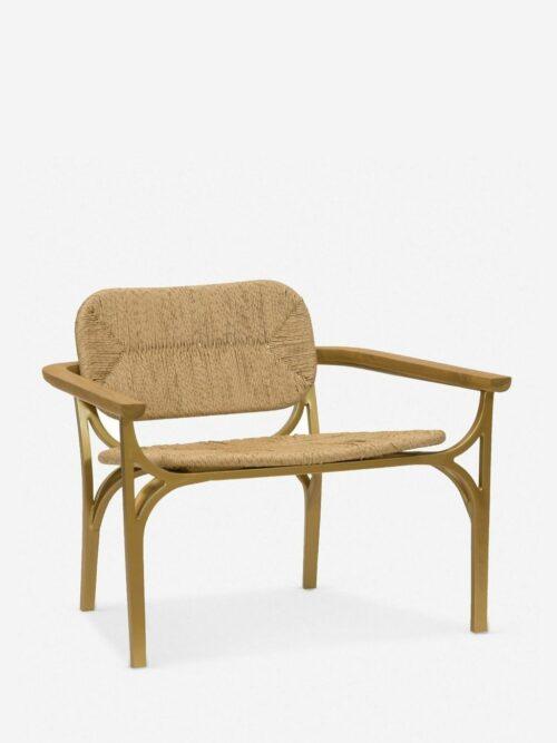 Morris & Co. Kelmscott Rush Indoor / Outdoor Accent Chair, Natural