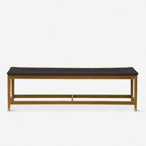 Morris & Co. Kelmscott Rush Indoor / Outdoor Bench, Black