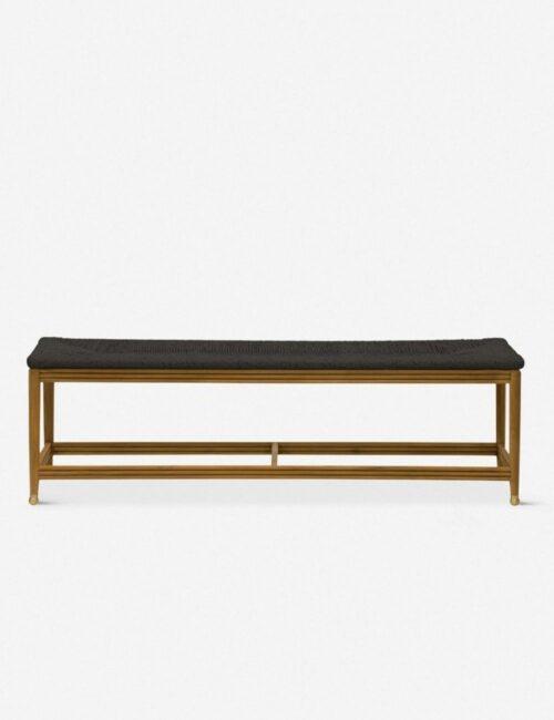 Morris & Co. Kelmscott Rush Indoor / Outdoor Bench, Black