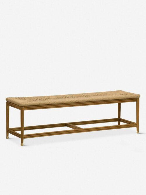 Morris & Co. Kelmscott Rush Indoor / Outdoor Bench, Natural