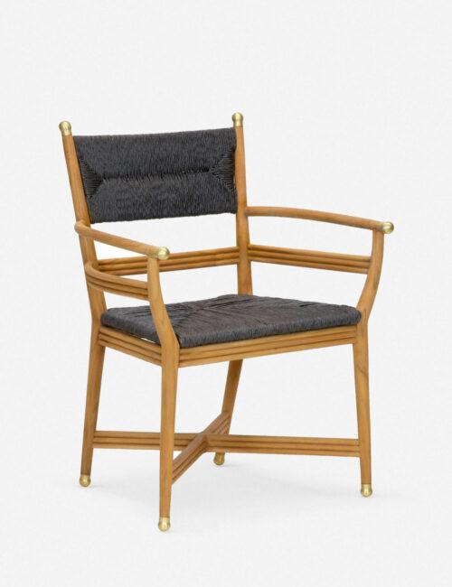 Morris & Co. Kelmscott Rush Indoor / Outdoor Dining Arm Chair, Black