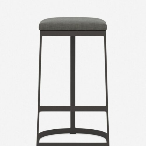 Olivera Indoor / Outdoor Bar Stool, Charcoal