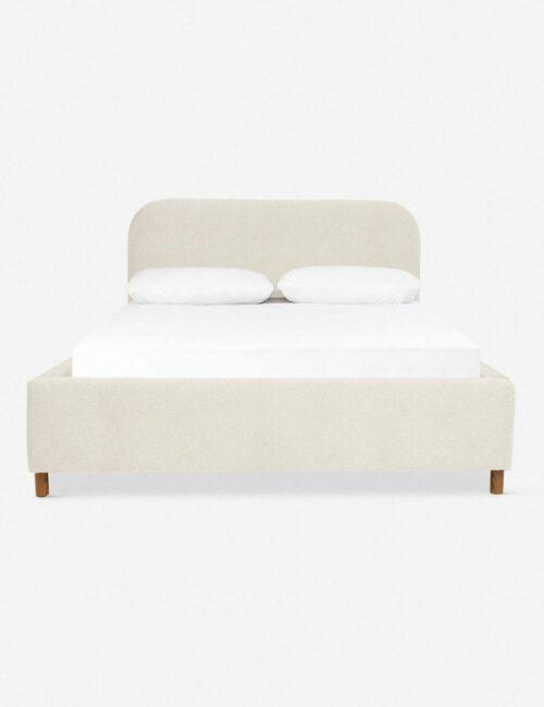 Solene Platform Bed, Boucle Cream