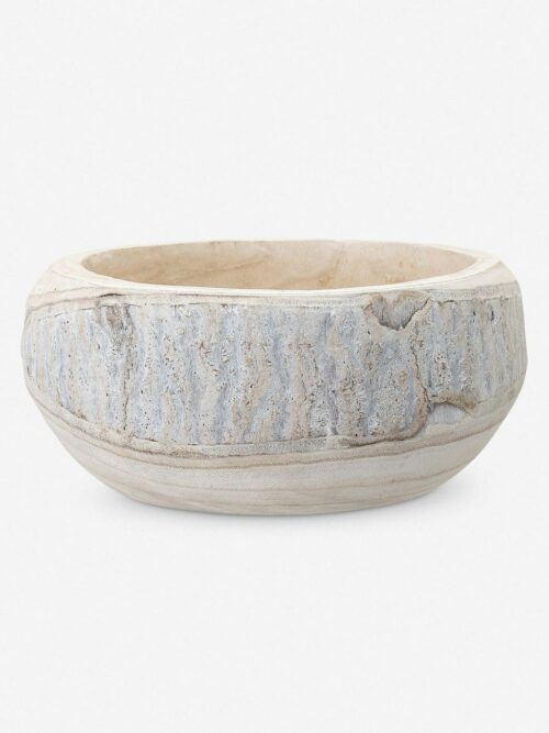 Minne Decorative Bowl, Whitewashed