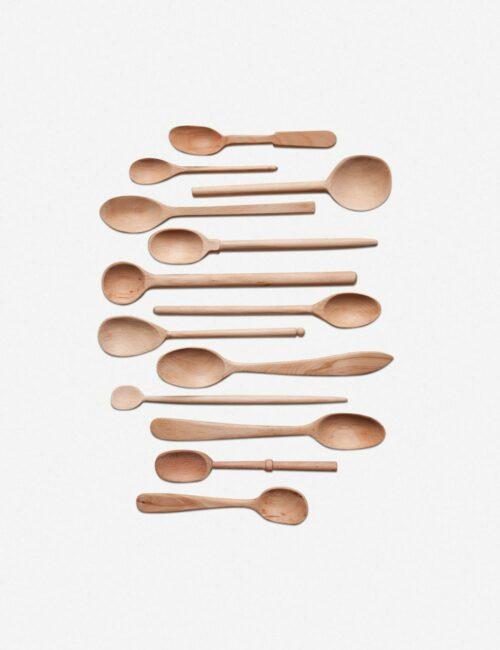 Baker's Dozen Assorted Large Wood Spoons, Beechwood