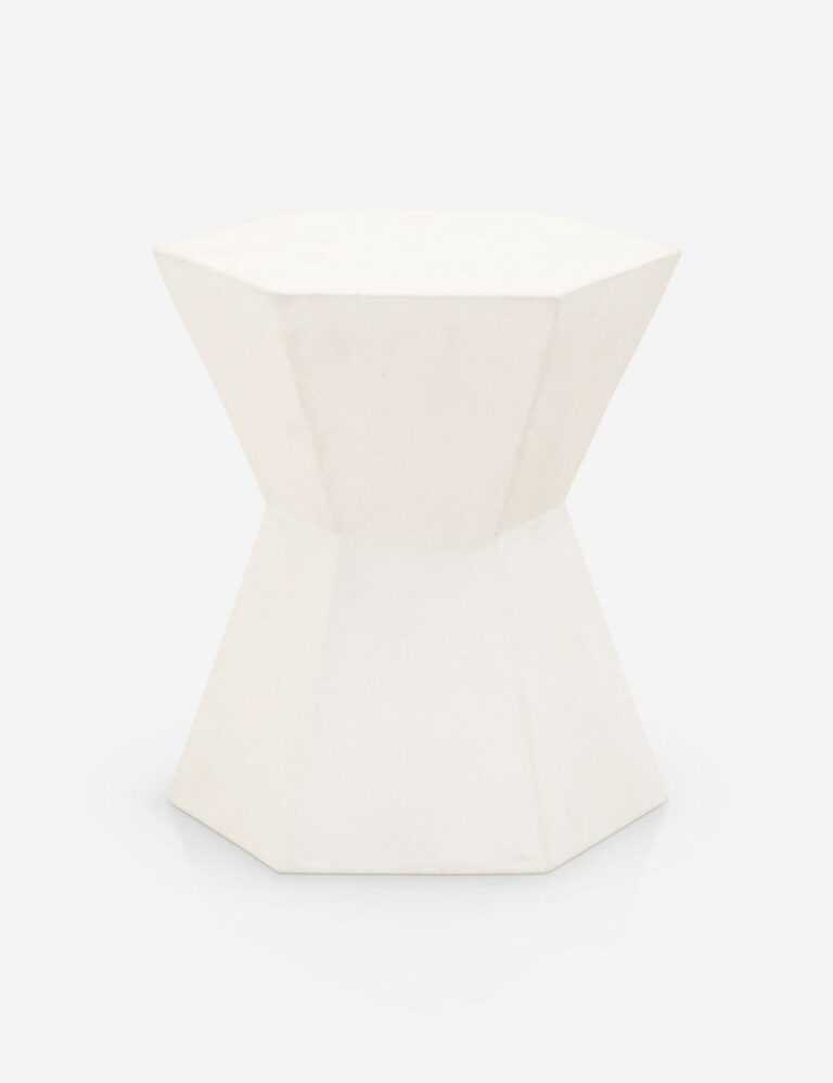 Kai Indoor / Outdoor Side Table, Ivory