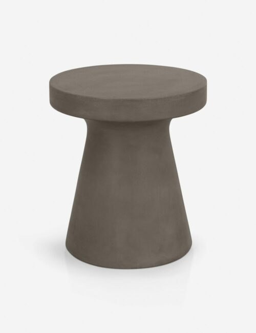 Risy Indoor / Outdoor Round Side Table, Slate Gray