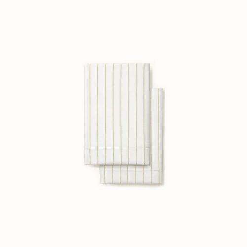 Organic Percale Simple Stripe Pillowcase Set