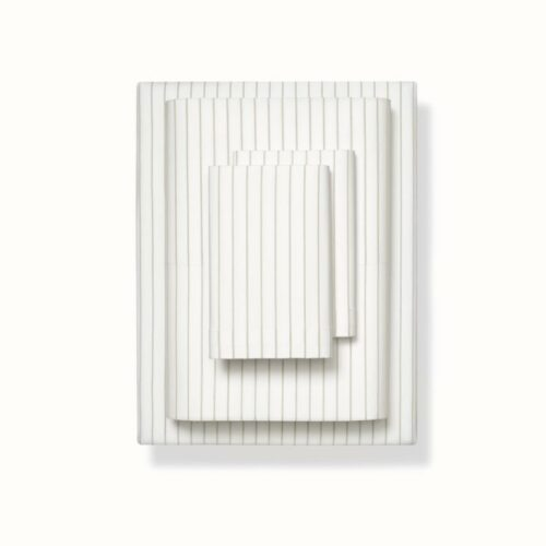 Organic Percale Simple Stripe Sheet Set