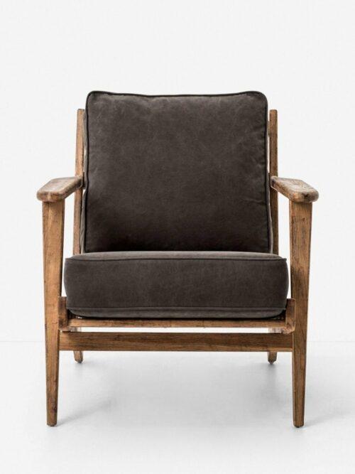 Austin Accent Chair, Stonewash Dark Green
