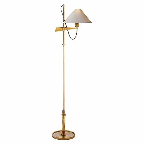 Hargett Bridge Arm Floor Lamp by Visual Comfort - Color: Brass - Finish: Brass - (SP 1505HAB-NP)