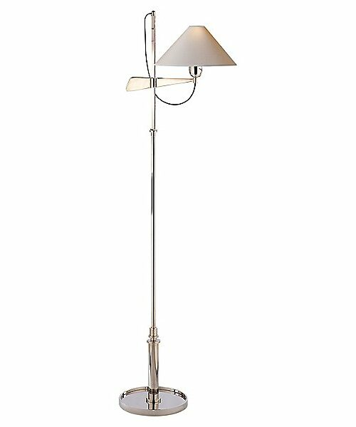 Hargett Bridge Arm Floor Lamp by Visual Comfort - Color: Silver - Finish: Polished Nickel - (SP 1505PN-NP)