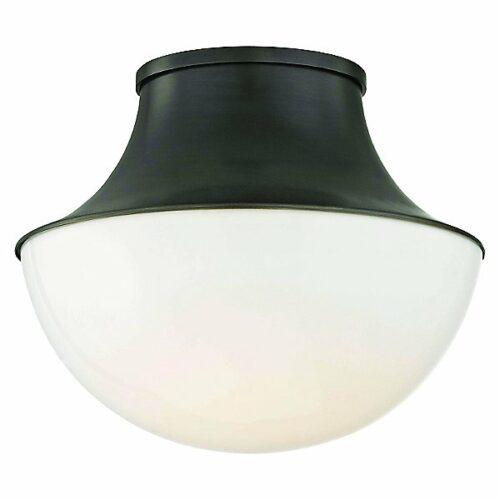 Lettie LED Flush Mount Ceiling Light by Hudson Valley Lighting - Color: White - Finish: Bronze - (9411-OB)