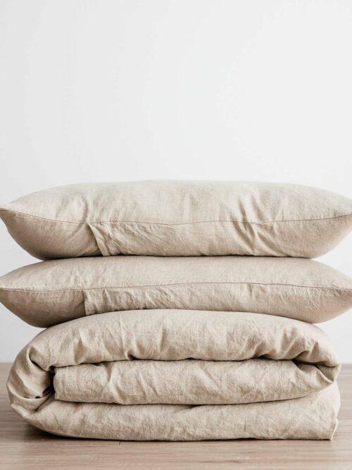 Linen Duvet Cover Set - Natural