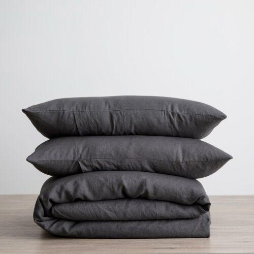 Linen Duvet Cover Set - Slate