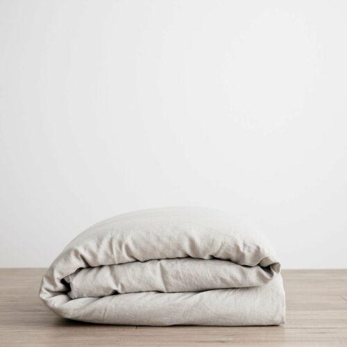Linen Duvet Cover - Smoke Gray