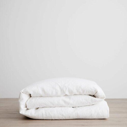 Linen Duvet Cover - White