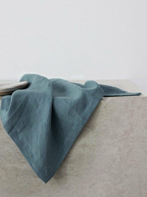Linen Table Napkins - Bluestone
