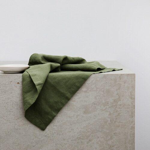 Linen Table Napkins - Forest