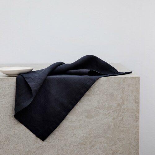 Linen Table Napkins - Navy