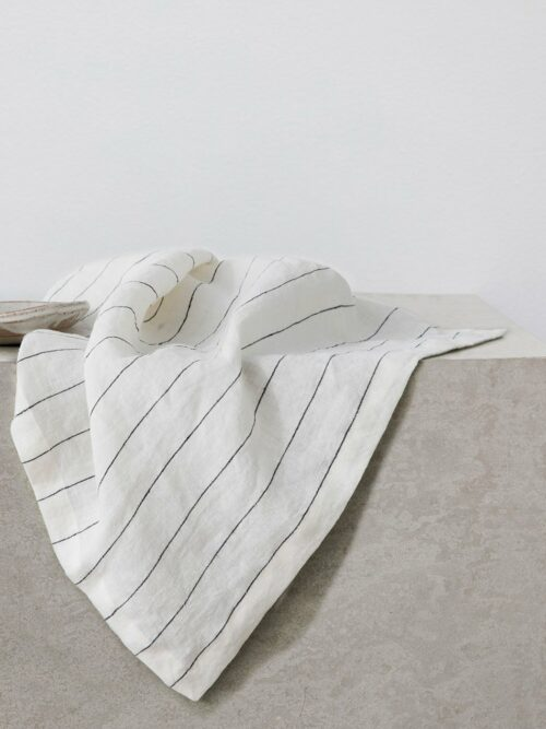 Linen Table Napkins - Pencil Stripe