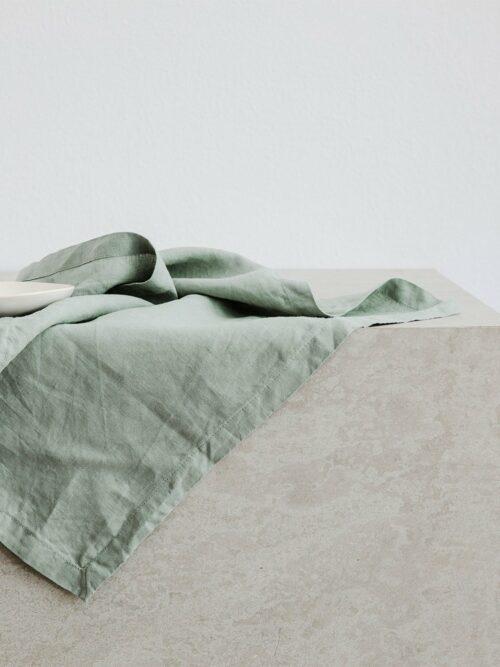 Linen Table Napkins - Sage
